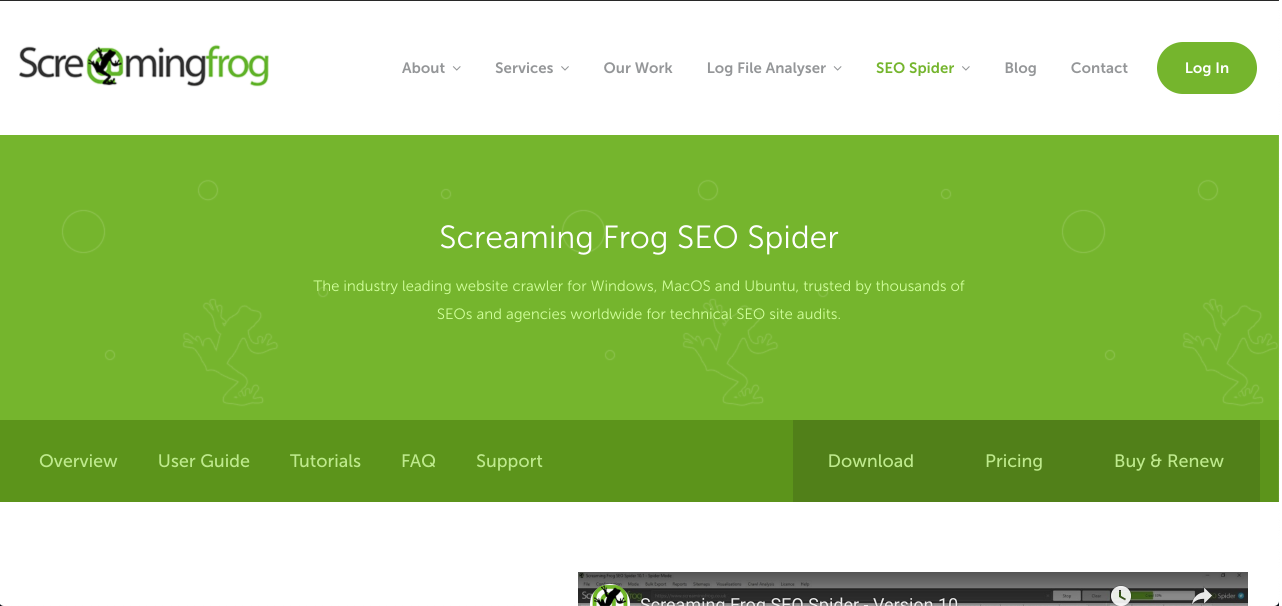 Screaming Frog SEO Spider
